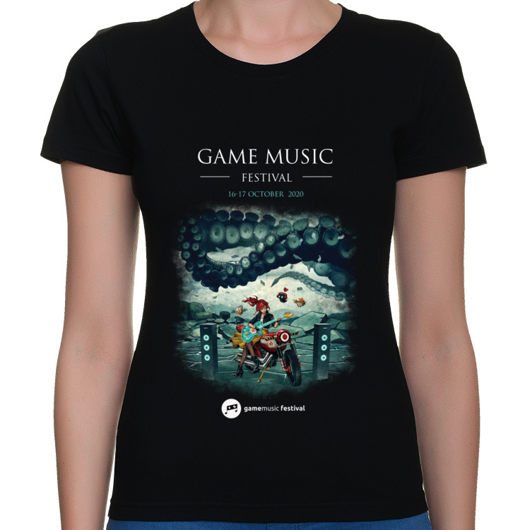 Game Music Festival 2020 T shirt Black